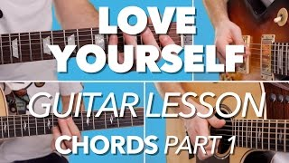 ► HOW TO PLAY | Love Yourself | Justin Bieber | Guitar Tutorial (Chords) FREE TAB