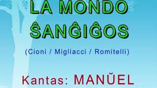 """LA MONDO ŜANĜIĜOS (Cioni/Migliacci/Romitelli) – Esperanto cover de """"IL MONDO CAMBIERA'."""