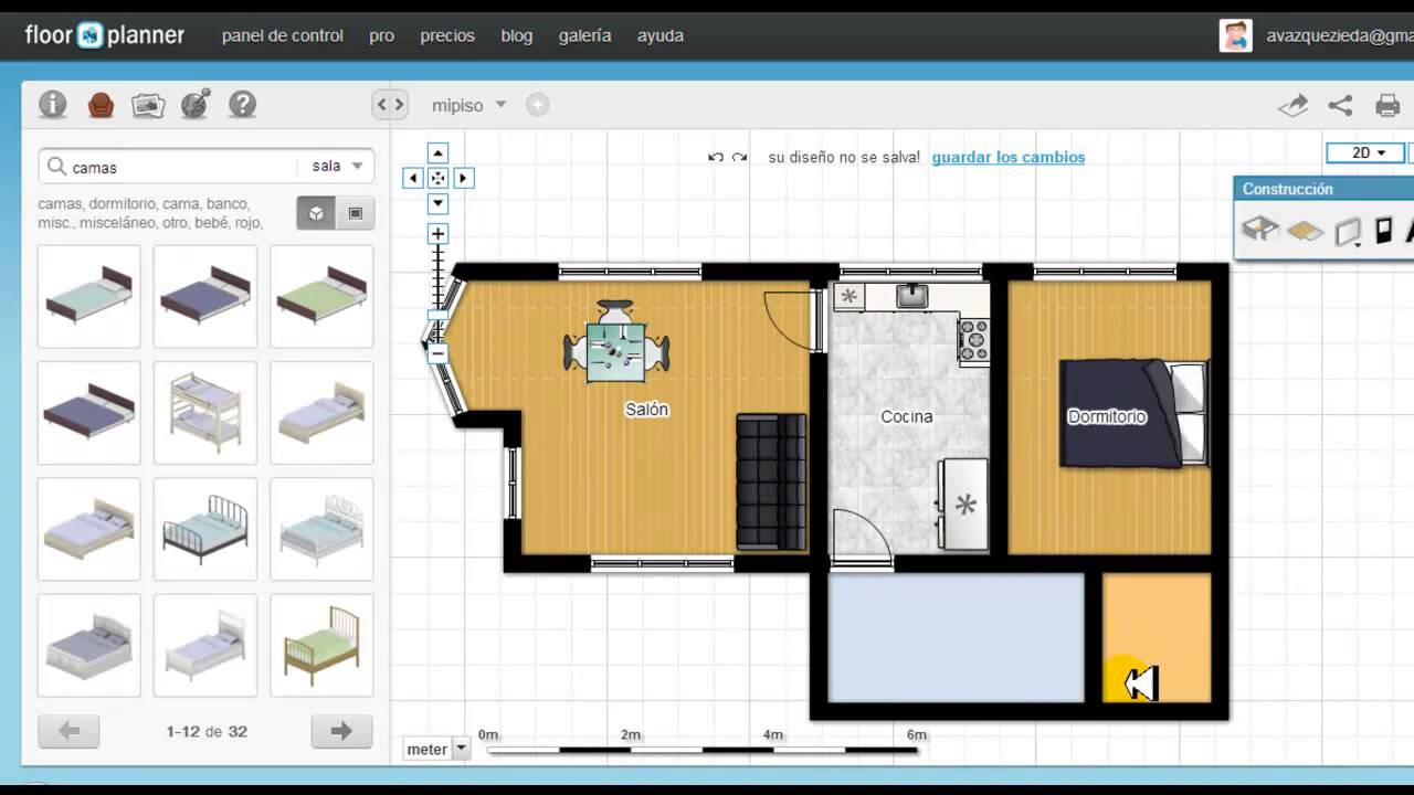Tutorial de floorplanner en espa ol youtube for Simulador cocinas 3d
