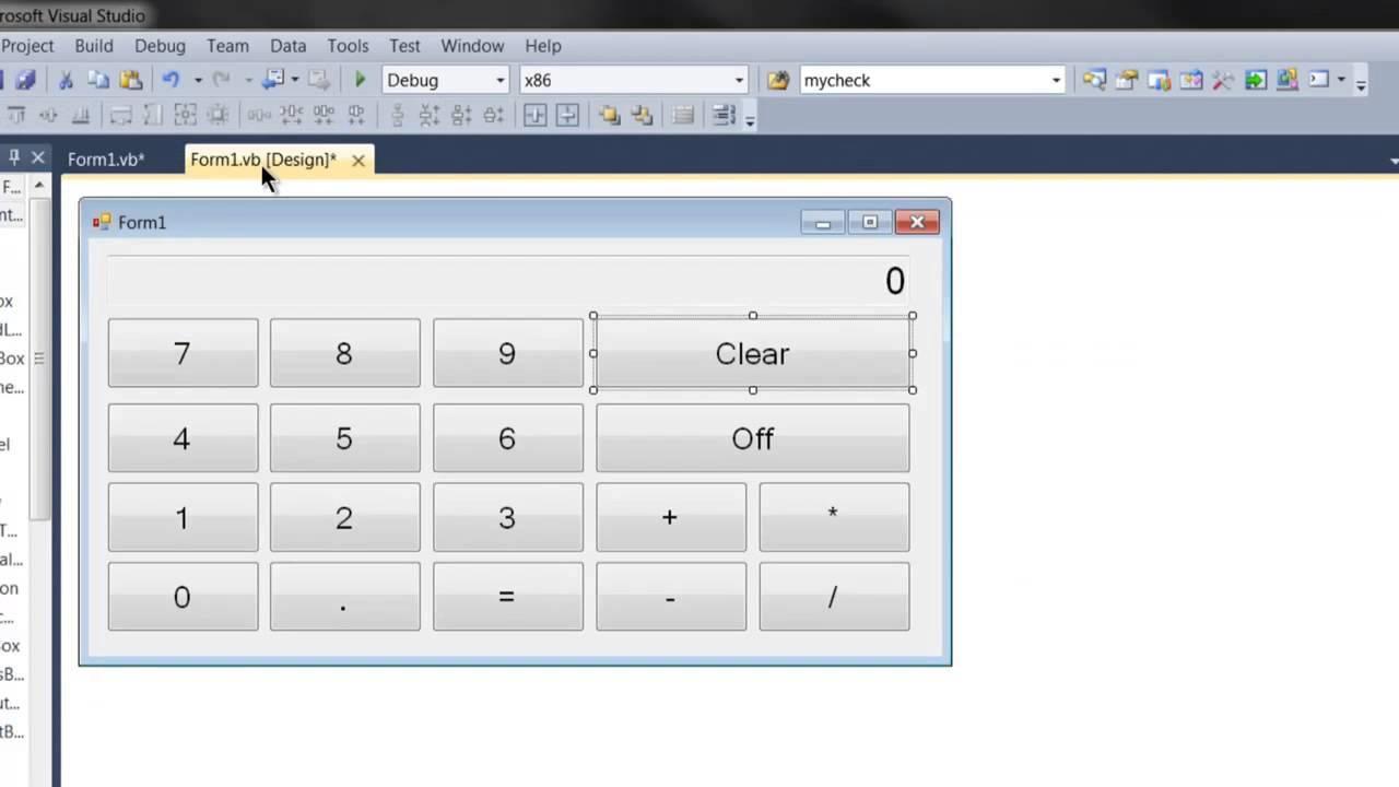 Написать калькулятор на c