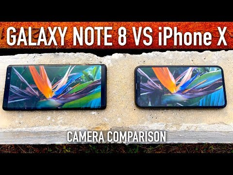 iPhone X vs Note 8 Full Camera Comparison Test!