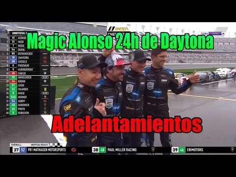 ADELANTAMIENTOS DE MAGIC ALONSO EN LAS 24 HORAS DE DAYTONA 2019