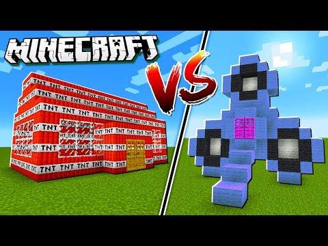 FIDGET SPINNER HOUSE vs TNT HOUSE in Minecraft!