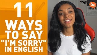 BETTER WAYS TO SAY 'SORRY' IN ENGLISH!