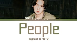 Download song AGUST D - PEOPLE 「Han/Rom/Eng Lyrics」