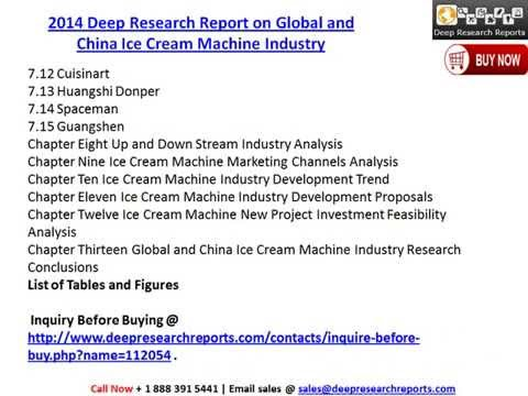 Worldwide & China Ice Cream Machine Market Analysis Report