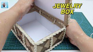 Handcraft jewelry box from jute rope |Art and Craft Ideas |Handicraft| DIY