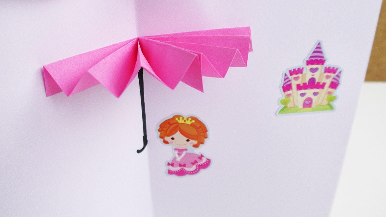 3d regenschirm bild zum selber bauen origami deutsch basteln youtube. Black Bedroom Furniture Sets. Home Design Ideas