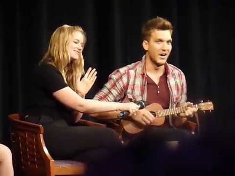 Scott Michael Foster playing ukulele and talking about his former band  Fairy Tales III Convention