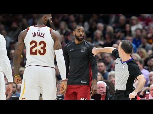 LeBron James Ejected for 1st Time in His Career! Love 38 Points! 2017-18 Season