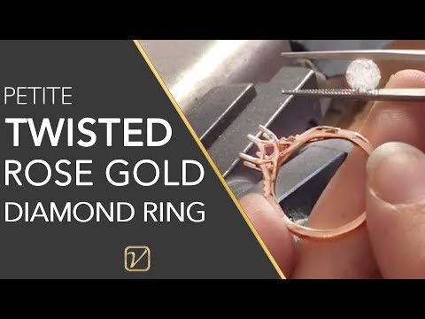 1ct Rose Gold Engagement ring – Petite Twisted Engagement Ring