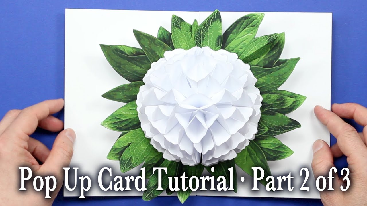 flower pop up card tutorial part 2 of 3 youtube