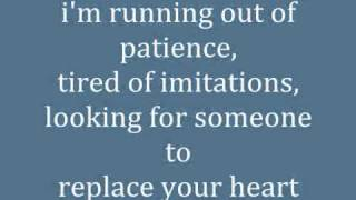 The Wanted - Replace Your Heart (LYRICS)