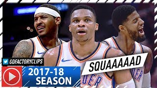 Russell Westbrook, Carmelo Anthony & Paul George BIG 3 Highlights vs Clippers (2018.01.04) - SQUAD!