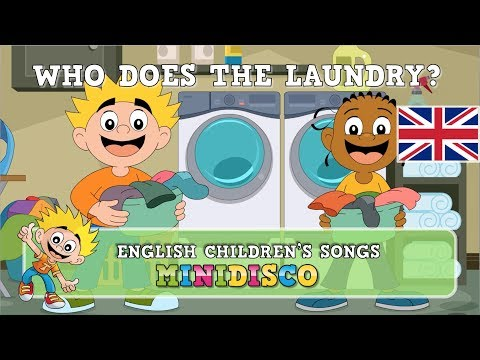 children's-songs- -who-does-the-laundry- -cartoon- -mini-disco