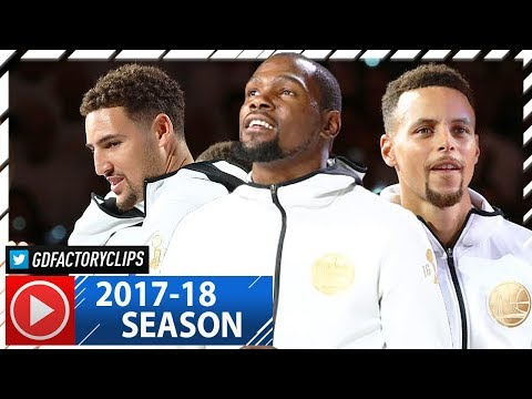 Stephen Curry, Kevin Durant & Klay Thompson Highlights vs Rockets (2017.10.17) - Rings Delivered!
