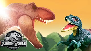 Most EPIC Dino Battles   Jurassic World   Mattel Action!