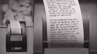 Grundgesetz – Die Grundrechte | Thermodrucker, 90mm/s