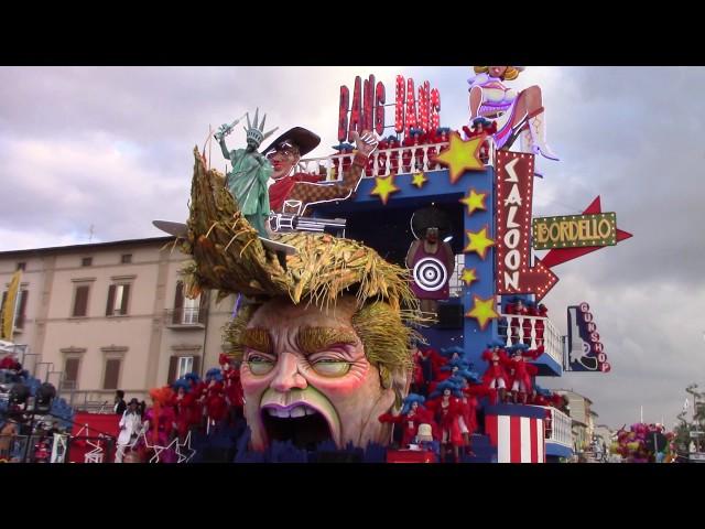 """Carnevale di Viareggio 2017: """"Bang Bang""""."""