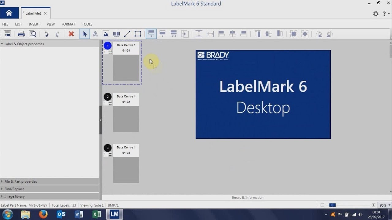 Brady Labelmark 6 - Import Excel Data for Cable Label Printing