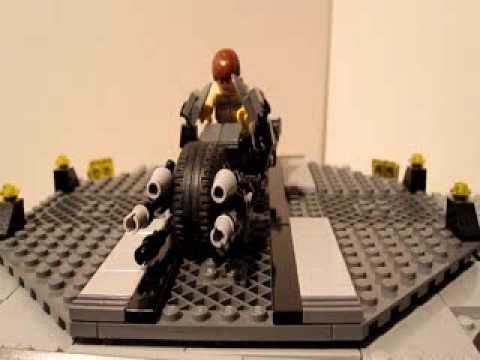 Lego Batman Custom Batpod Spinning In The Batcave Youtube