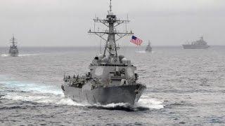 US NAVY DESTROYER, NAGLAYAG MALAPIT SA MGA GINAWANG ISLA NG CHINA