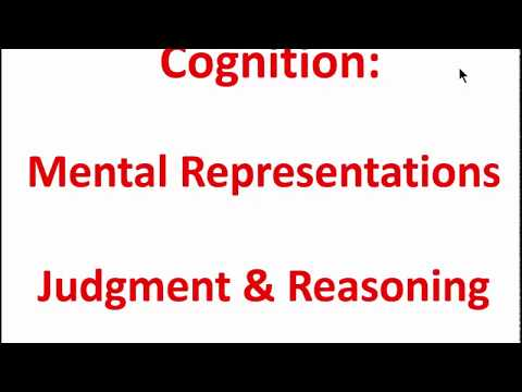 Cognitition: Mental Representations, Judgment & Reasoning Z