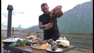 FOOD HIGHLANDER in the Caucasus. ENG SUB.