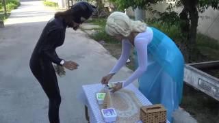 Человек паук и Принцесса Эльза  Анимация  Видео Детские #1