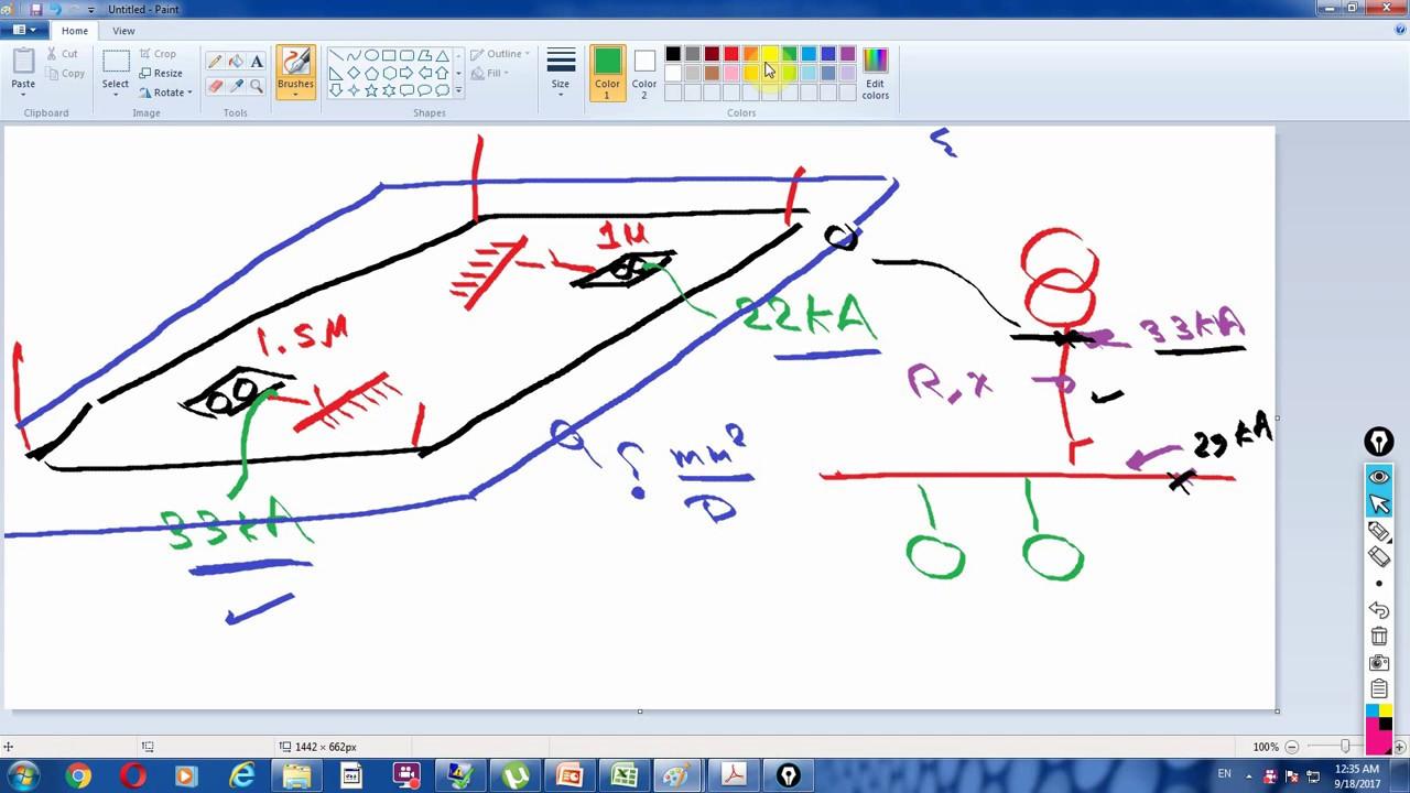 Earth calculation EXCEL IEEE-std 80 part 1حساب مقاومة شبكة الارضى