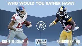 Who Would You Rather Have: Odell Beckham or Antonio Brown? | Move the Sticks | NFL