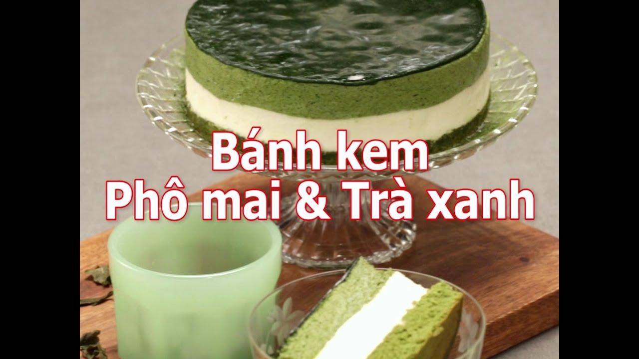 [Cookat Việt Nam] Bánh Kem Phô Mai & Trà Xanh