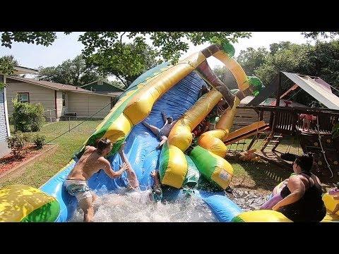 TERRIFYING BIRTHDAY WATERSLIDE ACCIDENT!!