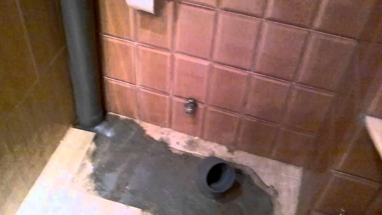 Distribucion De Un Baño Con Tina:Como preparar tomas de agua y desagüe para nuevo baño – YouTube