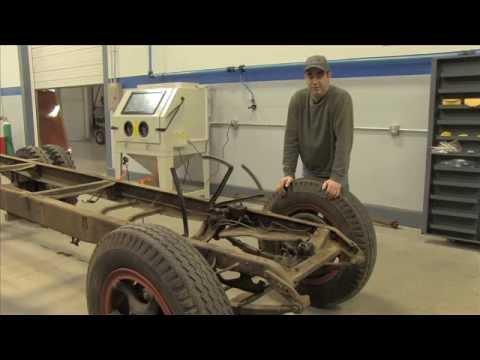 Automotive Frame Sandblasting