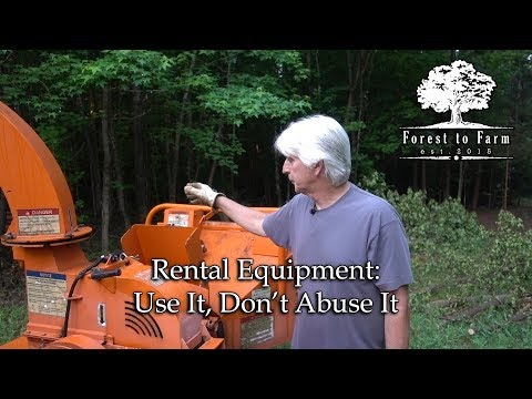 Rental Equipment: Use It, Don't Abuse It