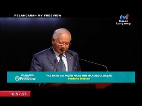 RTM : SIARAN LANGSUNG - PELANCARAN MY FREEVIEW OLEH PERDANA MENTERI MALAYSIA  [6 JUN 2017]