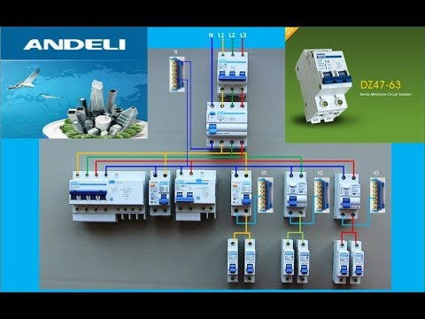 Основные схемы трёхфазного щита на примере продукции ANDELI