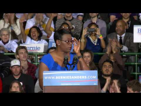 Nina Turner Feels the Bern: The Ohio Senator and Recent Endorser Gave a Great Introduction for Bernie at Tonight's Rally in Cleveland