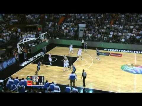Argentina Vs. Puerto Rico / 2011 FIBA Americas Championship Round 1