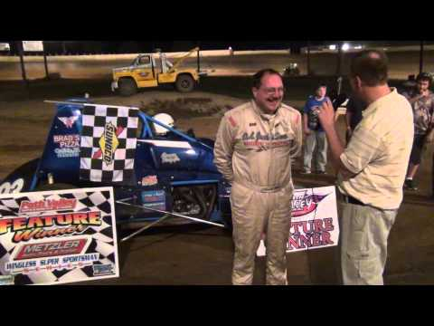 Carmen Perigo Jr. in victory lane at Path Valley Speedway 7-31-15