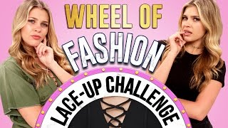 LACE-UP CHALLENGE?! Wheel of Fashion w/ Caci Twins