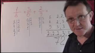 Наименьшее общее кратное трёх чисел. Математика 6 класс