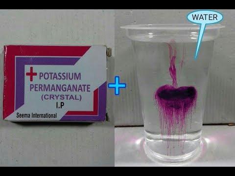 POTASSIUM PERMANGANATE + WATER