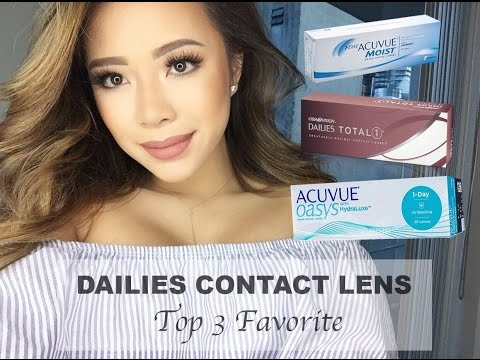DAILIES CONTACT LENS | CAN YOU SLEEP OR SWIM IN THEM ? | NANCI BAGUETTE