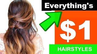 ★ EXPERIMENT:  HAIRSTYLES using Only $ DOLLAR TREE Hair Products?