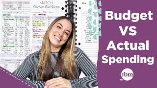 Budget vs. Your Actual Spending