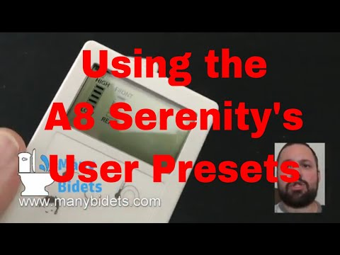 Many Bidets Faqs Setting User Presets On The Bio Bidet A8 Youtube