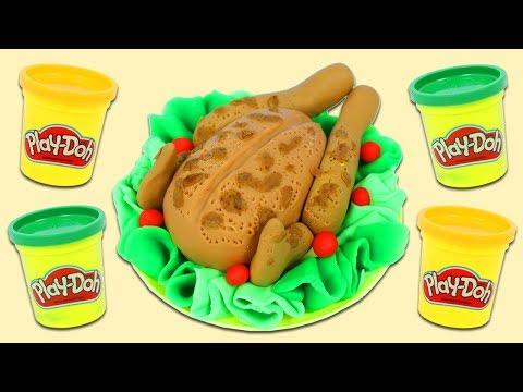 How to Make Cute Play Doh Thanksgiving Turkey | Fun & Easy DIY Play Dough Art!