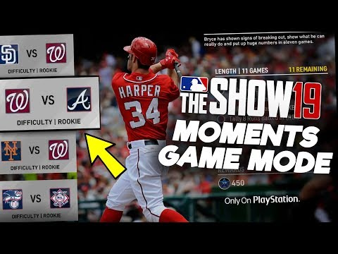 New Moments Mode Features in MLB The Show 19